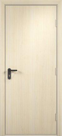 Противопожарная дверь ДПГ (ПВХ) беленый дуб