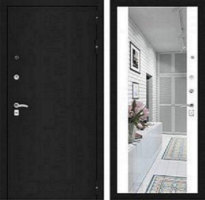 Входная дверь CLASSIC шагрень черная с Зеркалом