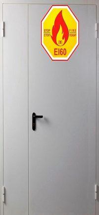 Дверь противопожарная металлическая Verda ДПМ Ei60 двупольная