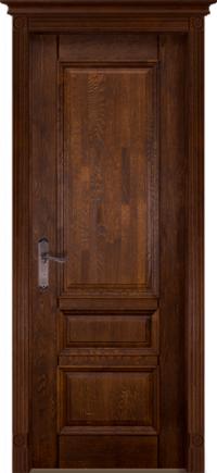 Дверь-массив-дуба-Аристократ-№1-античный-орех