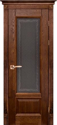 Дверь-массив-дуба-Аристократ-№4-античный-орех