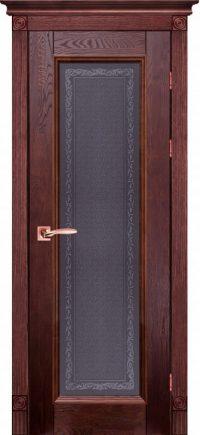 Дверь-массив-дуба-Аристократ-№5-махагон