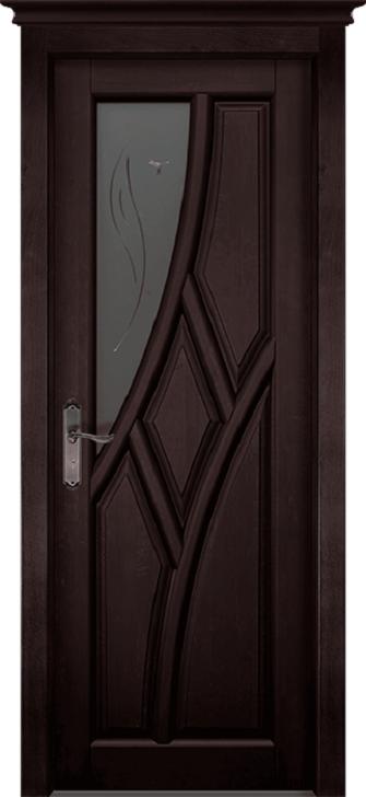 Дверь-массив-ольхи-Глория-венге-остекленная