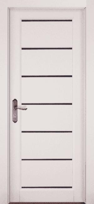 Дверь-массив-ольхи-Премьер-белая-эмаль-остекленная