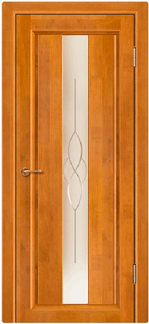 Дверь-массив-ольхи-Версаль-мёд-остекленная