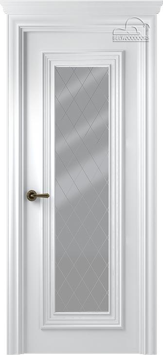 Палаццо 1 Белая со стеклом мателюкс