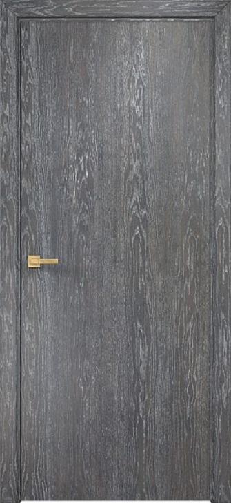Шпонированная дверь гладкая
