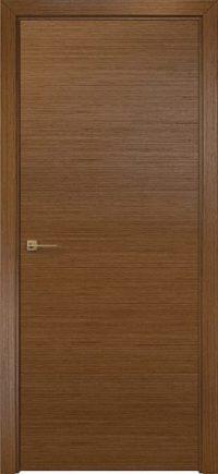 Шумоизоляционная дверь гладкая со шпоном