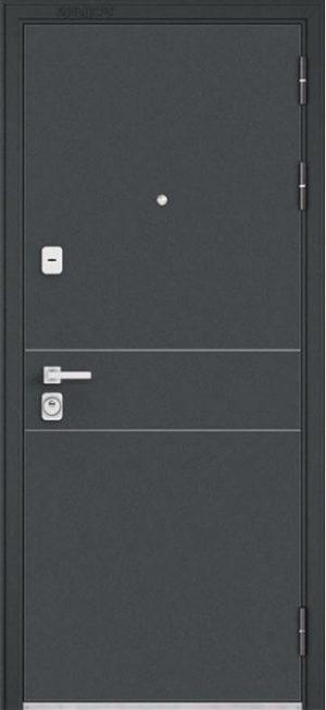 Входная дверь Premium-90 черный шелк D-14